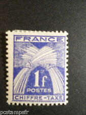 FRANCE 1943-46, timbre TAXE 70, type GERBES, neuf*, VF MH STAMP, TAX