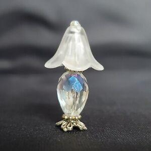 Fancy Crystal Doll House Miniature Lamp Nightstand Bedroom Light 1:24 half scale