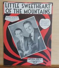Little Sweetheart of The Mountains - 1931 sheet music - multi-part edition
