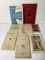 Lot Of 8 Vintage Religious Booklets/Ephemera Assorted Mixed Lot