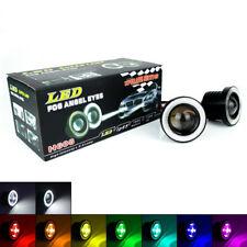 """MULTI COLOR PROJECTOR FOG LED RGB ANGEL EYES LIGHTS SUPER LAMP HALO 12V 3"""" P4"""