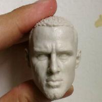 "1/6 Scale Blank Head Sculpt Channing Tatum Unpainted Fit 12"" Figure"