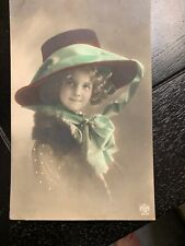 FAMOUS MYSTERY MODEL GRETE REINWALD VERY BIG VICTORIAN HAT FASHION