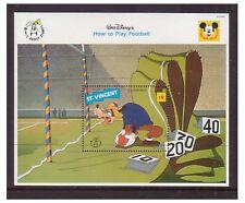 St Vincent 1992 películas de dibujos animados de Walt Disney, cómo jugar al fútbol-m/s-U/M