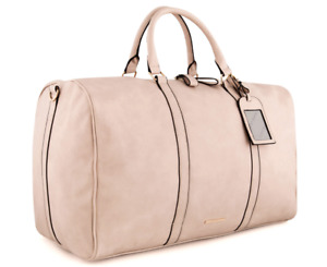 TONY BIANCO Harper Weekend Away Bag Brown Nude Large PU Leather Zip organisation