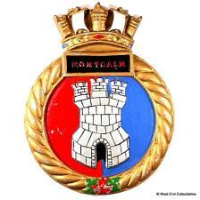 HMCS Montcalm - Old Heavy Canadian Navy Ship Tampion Tompion Badge Crest