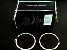 Avon Hoop earrings 2 Pair one in goldtone and one set in silvert free shipping