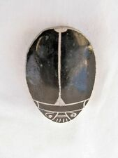 "1 Egyptian Handmade Scarab Black Basalt Stone: 1.75"""
