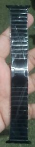New Apple Watch Brass + Steel Link Bracelet 42mm 44mm BLACK Auto Link Removal UK