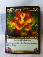 Apocanon World of Warcraft Tradingcard Blizzard TCG Upper Deck green
