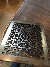 T 28 Antique Cast-Iron Heating Grate Face 9 5/8 X 11 5/8