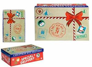 Small Christmas Eve Gift Surprise Box Special Delivery Dec 24th Cardboard Lidded