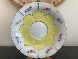 Meissen Porcelain Yellow Floral Saucer