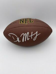 DK METCALF SIGNED WILSON 1455 NFL FOOTBALL SEATTLE SEAHAWKS COA & HOLOGRAMS