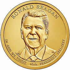 2016-P&D RONALD REAGAN  PRESIDENTIAL DOLLAR COINS