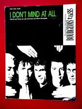 """LARGE 9""""X12"""" SHEET MUSIC """"I DON'T MIND AT ALL"""" 1987 BY BOURGEOIS TAGG- EXCELLENT"""