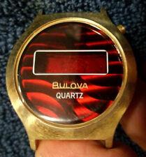 1976 BULOVA LED SOLID STATE QUARTZ WATCH CASE ONLY N-137 VINTAGE