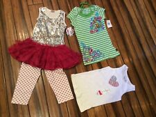Outfit & Shirts Nwt Girls 6 Lot of 4 New Outfit $40 + 2 tops Bling Glitter
