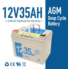 12V35AH AGM DEEP CYCLE Rechargeable Battery 4 Mobility SCOOTER GOLF CART BUGGY