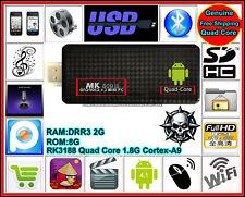 TV Stick BOX Android Dual Core Mini 8G PC Black Dangle Full-HD 1080P HDMI Media