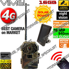 Home Security Camera 4G Solar Panel Trail Hunting GSM Wireless No Spy Hidden 3G