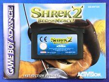 Shrek 2 Beg for Mercy for Nintendo Gameboy Advance. Australian. Saves. GBA AUS