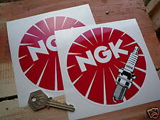 NGK Round detailled Plug 5 inch classic car stickers