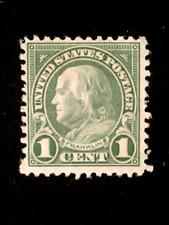 U S stamps Scott 578 one cent Franklin perf 11x10 mint cv 75.00