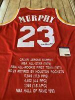 Calvin Murphy Autographed/Signed Jersey PSA/DNA COA Houston Rockets