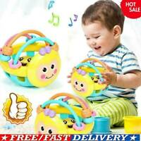 Cartoon Baby Shake Bell Rattles Ball Newborn Intelligent Kids Educational D9U0