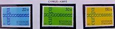 3 X Timbre Stamp Chypre Kibris Cyprus 1971 Neufs YT 351 352 353