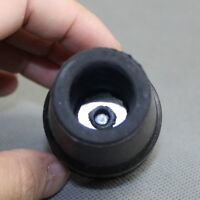 """19mm 3/4"""" Black Rubber Skid Resistant Cane Pad Case Protect Crutch Tip New"""