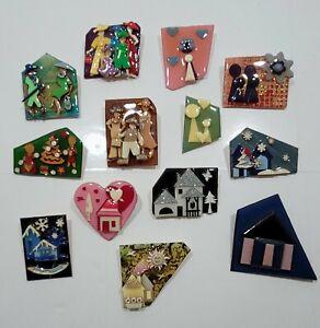 Vintage Lot of 13 Lucinda House & People Pins.