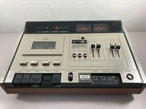 Akai GXC-75D Cassette Tape Deck Vintage 1970's Glass & Single X'tal Head Works