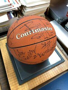1989-90 Detroit Pistons Last Dance 12 Signatures Thomas Rodman Basketball Sign