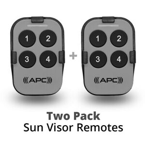 APC Remote Control 2x Value Pack with Sun Visor Clip for APC Gate Openers