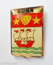 Gunn Clan Scotland Scottish Family Name Crest Pin Badge -