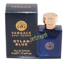 Versace Pour Homme Dylan Blue 0.17 oz /5 ml Men's Edt Splash Mini New In Box