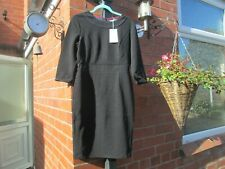 Boden Mia Ottoman  Dress- Black - UK 12 Petite Rrp £90