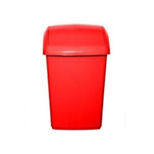 Whitefurze Plastic 30l Swing Bin Red Waste Management Kitchen Home