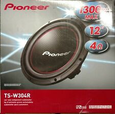 "Pioneer TS-W304R 1300 Watts 12"" Single Voice Coil 4 Ohm Car Subwoofer"