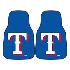 """Fan Mats MLB - Texas Rangers 2-pc Carpeted Car Mats 17""""x27"""" 6422"""