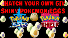 CHOOSE ⚔️'ANY PACKS'🛡️ SQUARE SHINY POKEMON! IN EGG-FORM! 6IV Sword and Shield