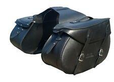 Motorrad Satteltasche Saddlebag Gepack XXL Seitentaschen  Buffalo Leder Schwarz