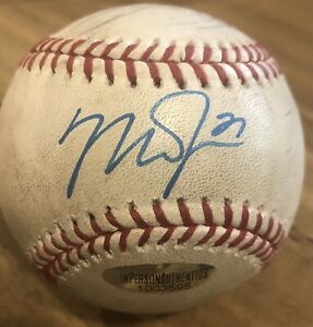 AUTOGRAPHED MIKE TROUT LOS ANGELES ANGELS 2020 SRING TRAINING BASEBALL WITH COA!