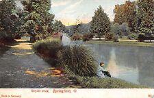 SPRINGFIELD OHIO SCENE IN SNYDER PARK~WHELOCK POSTCARD 1907 PSTMK