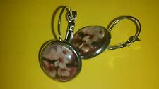 Ohrringe   -Neu- Durchmesser  14 mm,Cabochon