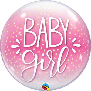 "Qualatex 22"" Single Bubble Balloon - Baby Girl"