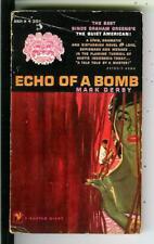 ECHO OF A BOMB by Derby, Bantam #A824 spy crime gga pulp vintage pb Indonesia