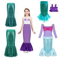 Kid Toddler Girl Little Princess Mermaid Fancy Dress Party Cosplay Costume Skirt
